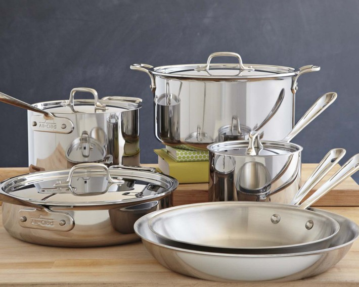 All-Clad Tri-Ply Stainless 10-piece Cookware Set