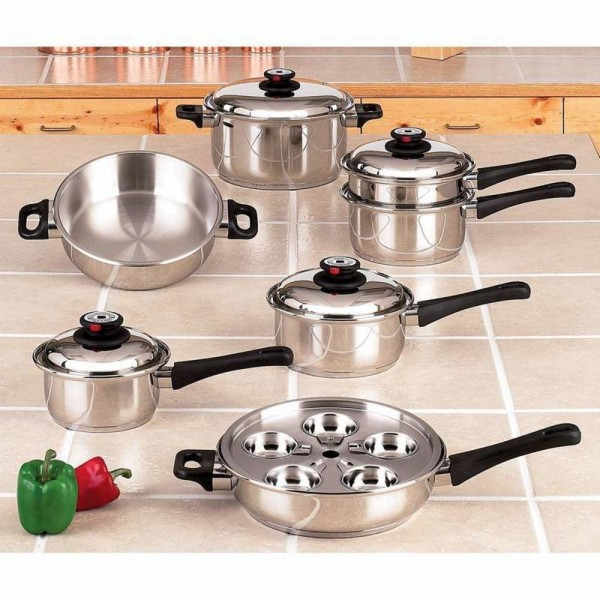 Maxam Surgical Stainless Steel Cookware