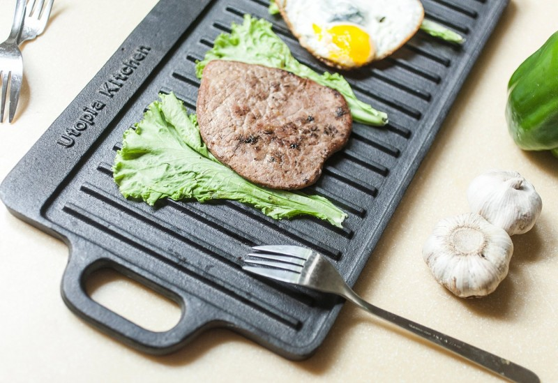 Utopia Kitchen Cast Iron Reversible Grill