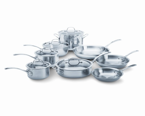 Calphalon Tri-Ply Stainless Steel Pots and Pans for glass cooktops